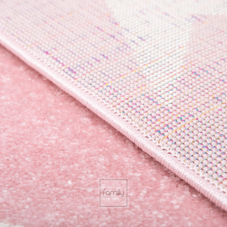 Dywan okrągły nowoczesny różowe Gwiazdki Art. 506 pink