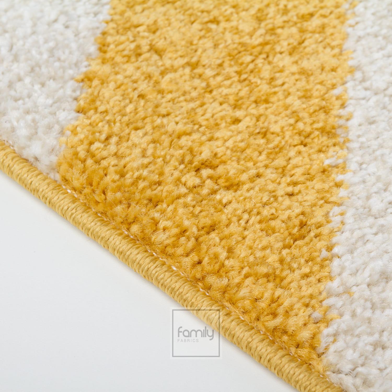 Dywan nowoczesny żółty Zygzak